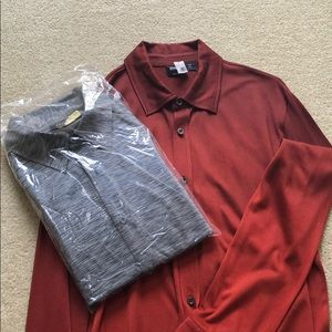 HUGO BOSS 2 (TWO) shirts size L PERFECT! BOSS